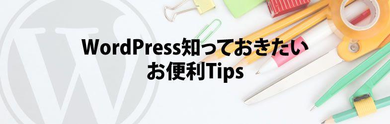 WordPressこれだけ押さえておけば大丈夫。テーマ改造厳選Tips